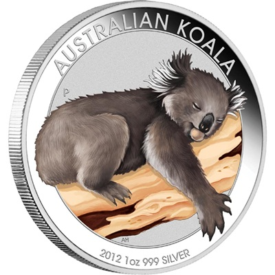 2012 1oz Silver KOALA Coloured Coin - ANA Coin Show