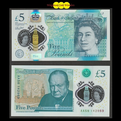 2016 Bank of England £5 Note (AA58)