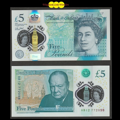 2016 Bank of England £5 Note (AB12)