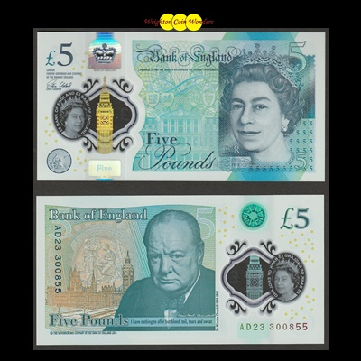 2016 Bank of England £5 Note (AD23)