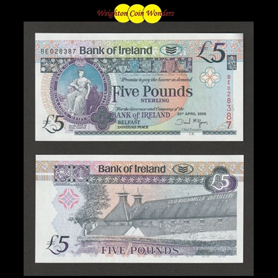 2008 Bank of Ireland £5 (BE028387)