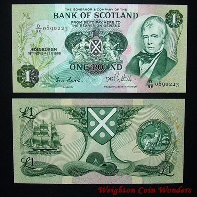 1986 Bank of Scotland £1