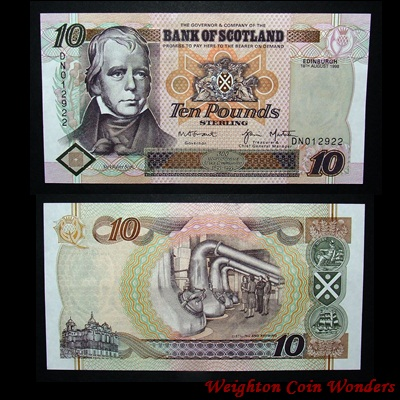 1998 Bank of Scotland £10
