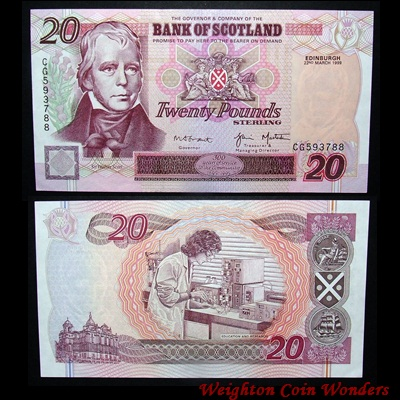 1999 Bank of Scotland £20
