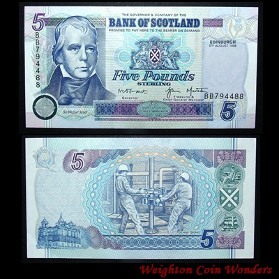 1998 Bank of Scotland £5