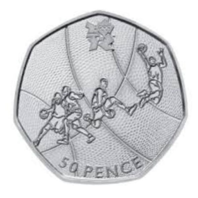 2011 50p - London 2012 Olympics - Basketball