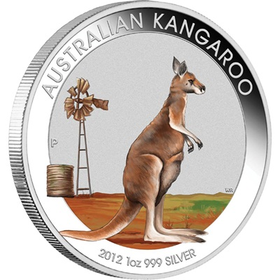 2012 1oz Silver KANGAROO Coloured Coin - BEIJING EXPO