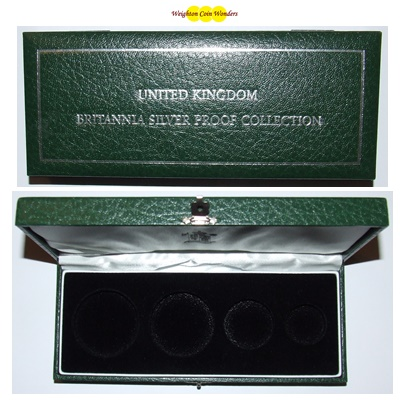 Silver Proof Britannia 4 Coin Box (No Coins)