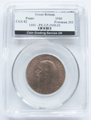 1930 George V PENNY - CGS Unc 82
