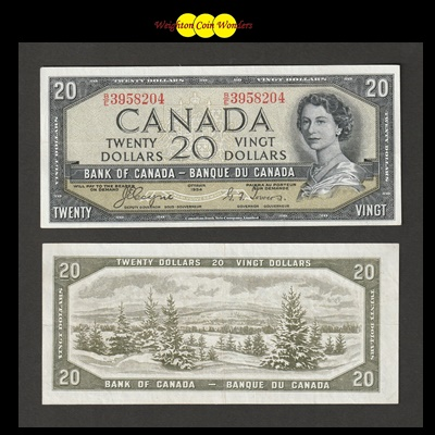 1954 Bank of Canada 20 Dollars - Devils Face (BE3958204)