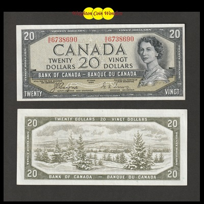 1954 Bank of Canada 20 Dollars - Devils Face (BE6738690)