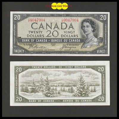 1954 Bank of Canada 20 Dollars - Devils Face (CE9047904)