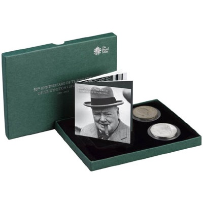 1965-2015 Two-Coin Set - Sir Winston Churchill - Click Image to Close