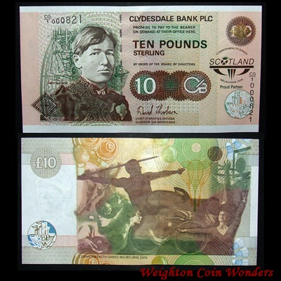 2006 Clydesdale Bank £10 - Commonwealth Games