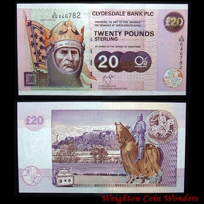 2003 Clydesdale Bank £20