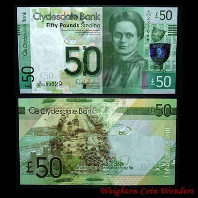 2009 Clydesdale Bank £50