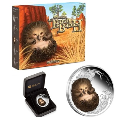 2013 1/2oz Silver Proof Bush Babies II - ECHIDNA