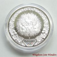 2000 $5 Silver Proof - Sydney 2000 - Echidna & Tea Tree