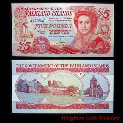 1983 Falkland Islands £5 Commemorative