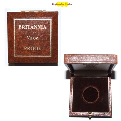 Gold Proof 1/10tth Britannia Coin Box (No Coins)