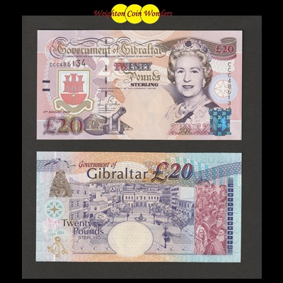 1995 Government of Gibraltar £20 Pound Note