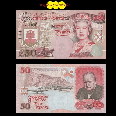 1995 Government of Gibraltar £50 Pound Note