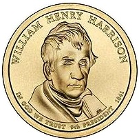 2009 (D) Presidential $1 Coin - William Henry Harrison