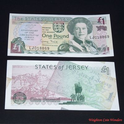 1995 Jersey £1 – 50th Anniversary of Liberation