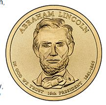 2010 (P) Presidential $1 Coin - Abraham Lincoln