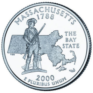 2000 - Massachusetts State Quarter (D)