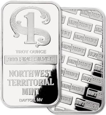 1oz Silver Bar- TYPE AS AVAILABLE