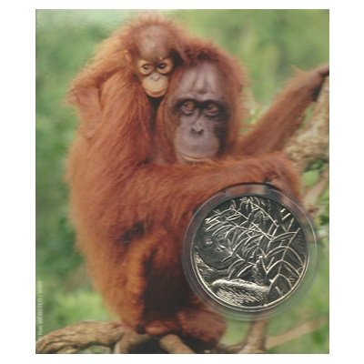 2009 Brilliant Uncirculated WWF Medal - Orangutan