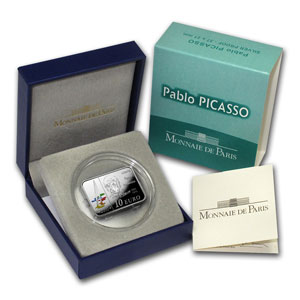 2010 €10 Silver Proof - Pablo Picasso