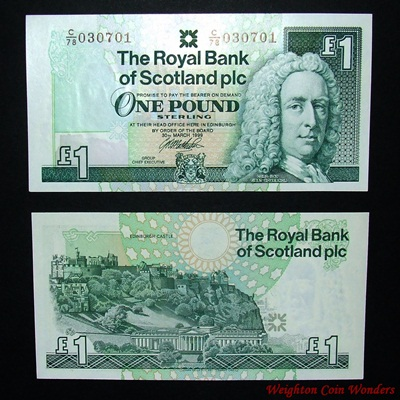 1999 Royal Bank of Scotland Plc £1