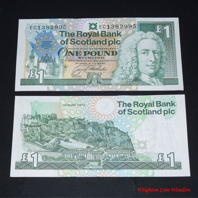 1992 Royal Bank of Scotland Plc £1 – European Summit