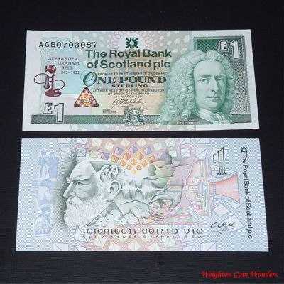 1997 Royal Bank of Scotland Plc £1 – Alexander Graham Bell