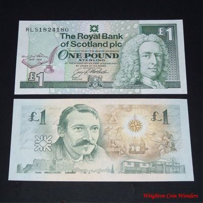 1994 Royal Bank of Scotland Plc £1 – Robert Lewis Stephenson