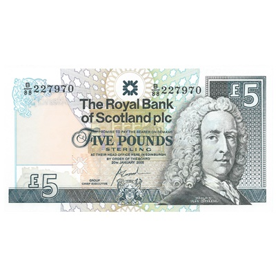 2005 Royal Bank of Scotland Plc £5
