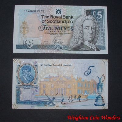 2004 Royal Bank of Scotland Plc £5 – St Andrews Golf Club
