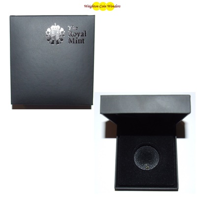 Royal Mint Black Coin Case - For Silver Proof £2