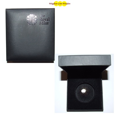 Royal Mint Black Coin Case - For Silver Proof Britannia