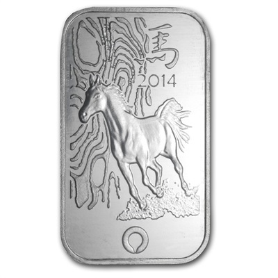 1oz Rand Refinery Silver Bar - Year of the HORSE .999 Fine