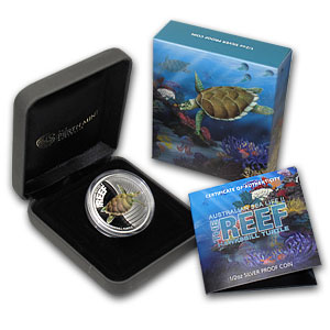 2011 1/2oz Silver Proof SEA LIFE II - HAWKSBILL TURTLE
