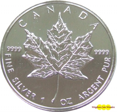 1991 1oz Silver Maple