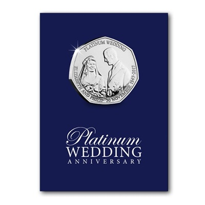 2017 BU 50p Coin (Card) - Platinum Wedding - The Royal Wedding