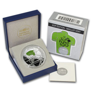 2013 Silver Proof 100th Tour de France - Green Jersey