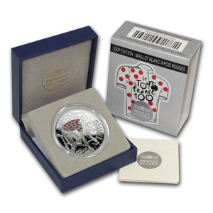 2013 Silver Proof 100th Tour de France - Red Spotted Jersey