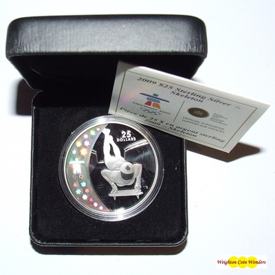 2009 Silver Proof $25 Hologram Coin - Skeleton