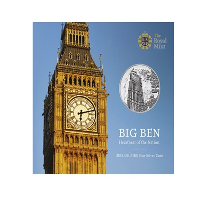 2015 £100 Fine Silver Coin - Big Ben - Heartbeat of the Nation