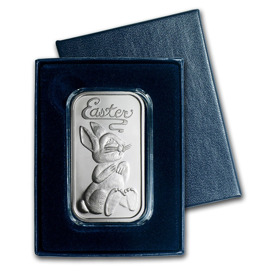 2014 1oz Silver Bar - Easter Bunny